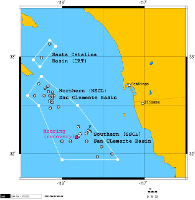 The Scientists And Crew Will Work In An Area Of The Pacific Ocean Between 31n La Ude 117 Degrees West Longitude And 33 Degrees North La Ude And 119 West
